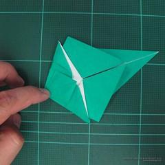 วิธีพับกระดาษเป็นรูปหมู (Origami Pig) 012