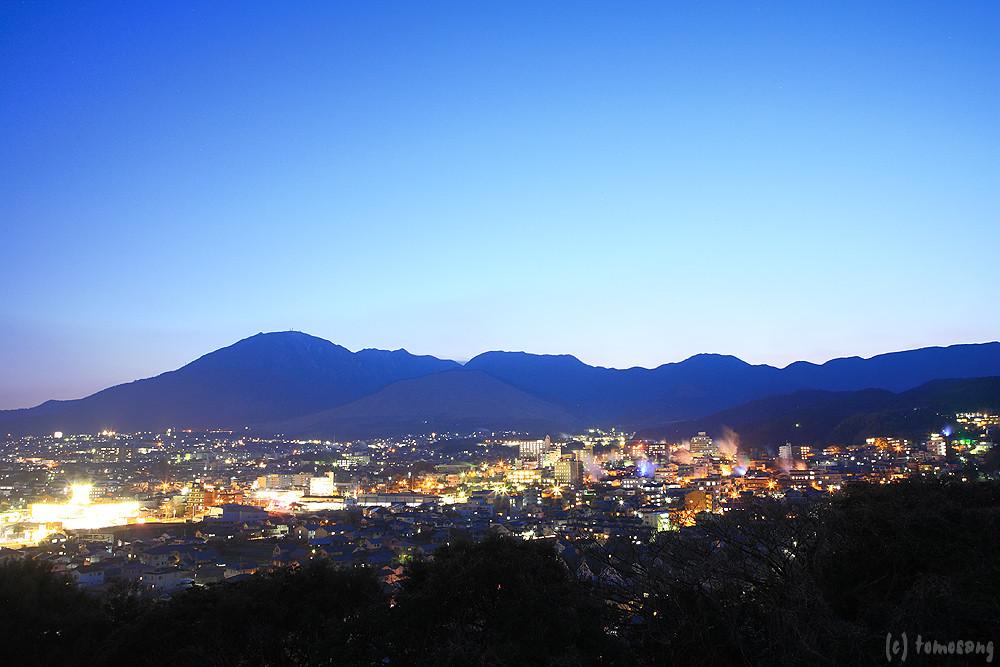 Elevation of Mount Yufu, Yufuincho Kawakami, Yufu, Oita ...