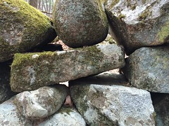Stone wall, close-up