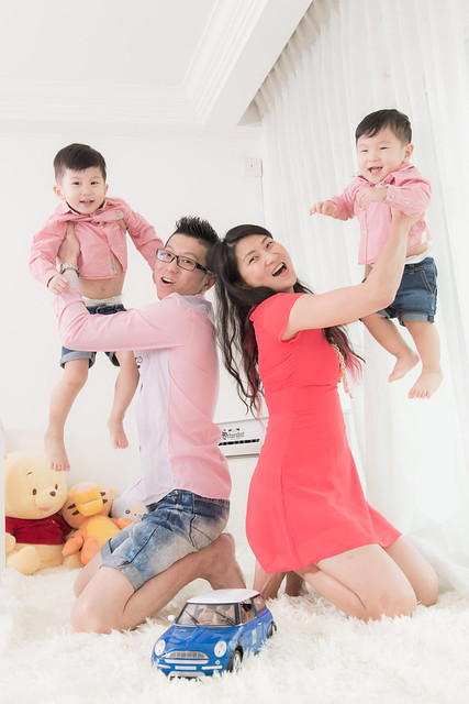 The Choo family in pink