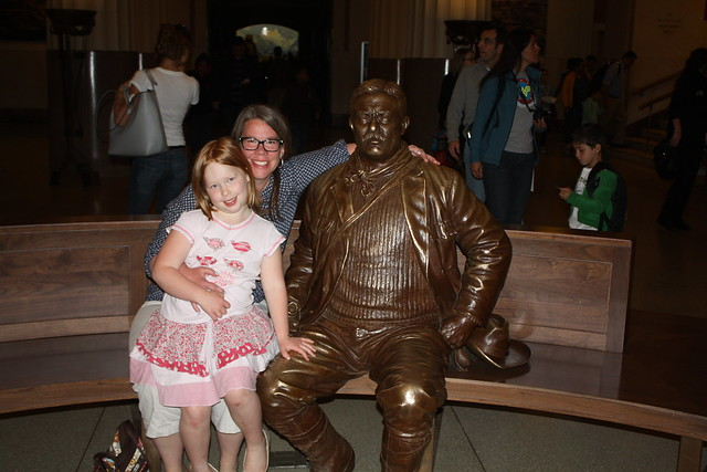 With Teddy Roosevelt, whom I greatly admire