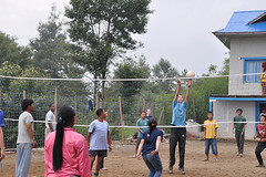 Volleyball at Hostel
