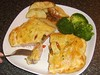 Gammon Steak en Croute with Spicy Pineapple and Peppers Filling