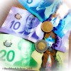 19/4/2014 - money {our new plastic bills} #fmsphotoaday #money #Canadian #currency #colorful