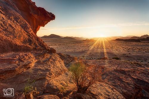 sunset sun rock canon landscape lawrence sand desert wadirum jordan rays dri digitalblending ef1740mmf4lusm canoneos5dmarkiii