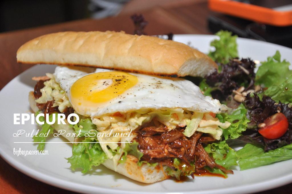 Epicuro Pulled Pork Sandwicj