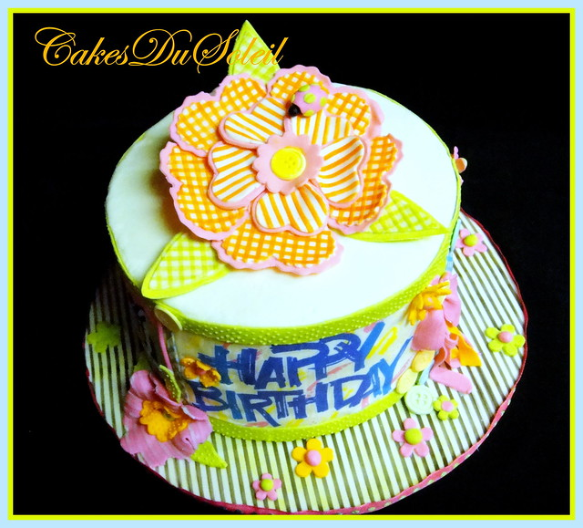 Summer Gingham Cake