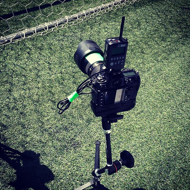 Remote net camera. #SoundersFC #RSL #mls #soccer #nikon #pocketwizard
