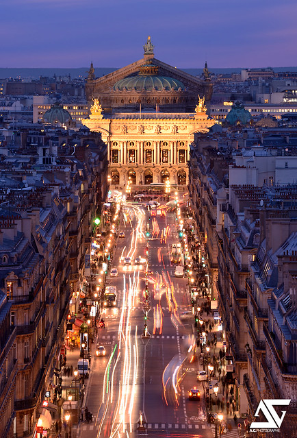 Opéra Garnier from Louvre @ Blue Hour