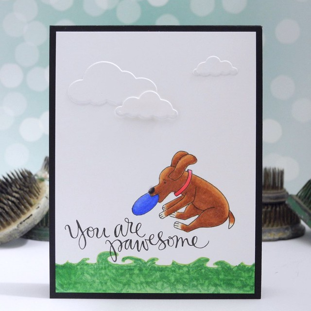 You're Pawesome! by Jennifer Ingle for the Simon Says Stamp Wednesday Challenge: Furry Friends #JustJingle #SimonSaysStamp #cards