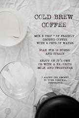Vegan cold brew iced coffee