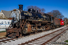 SLSF 1351   Steam 2-8-2   Collierville Heritage Railroad Display