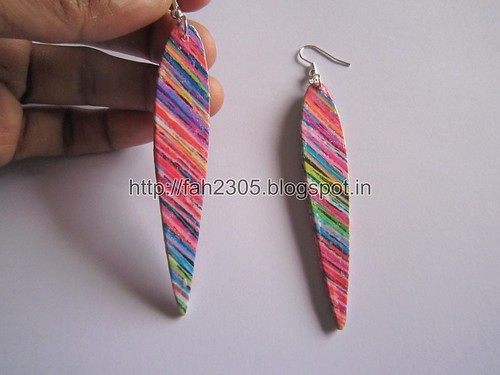 Handmade Jewelry - Card Paper Earrings  (Album 3) (18) by fah2305