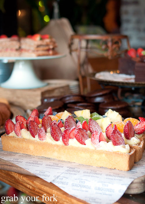 strawberry tart and fruit tarts at the grounds of alexandria markets bakery