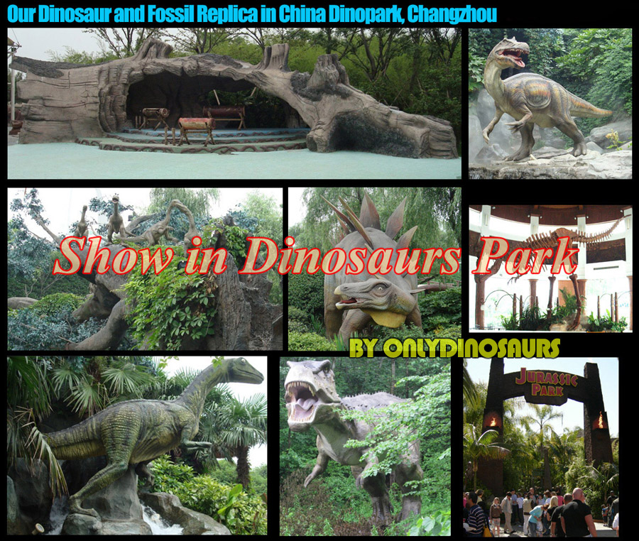 Our animatronic dinosaur in China Dinopark