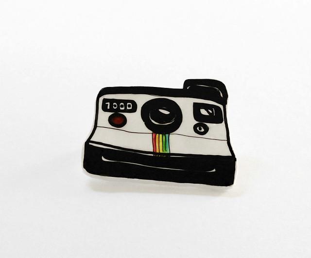 Polaroid plastic brooch 03