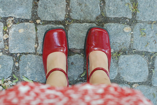 In Red Shoes