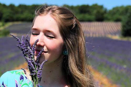 Smelling the lavender_8955