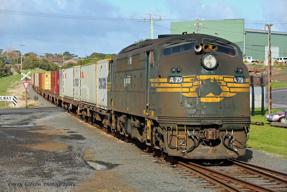 A79 arriving at Westvic Container Yard by Corey Gibson
