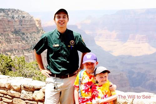 Junior rangers with Alex