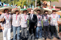 Mexican Team with Minister Ian Walker