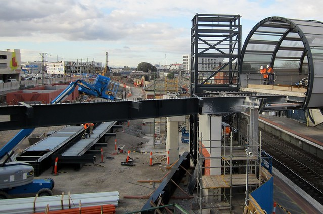 Regional Rail Link: Footscray station, July 2013