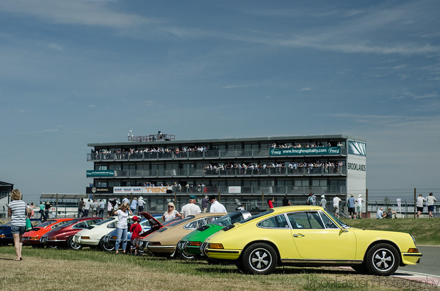 911 lineup, Silverstone Classic.