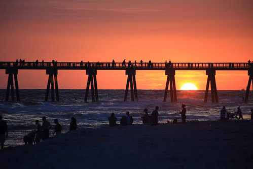 park city sunset beach pier florida panama