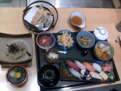 Sushi soba gozen 60