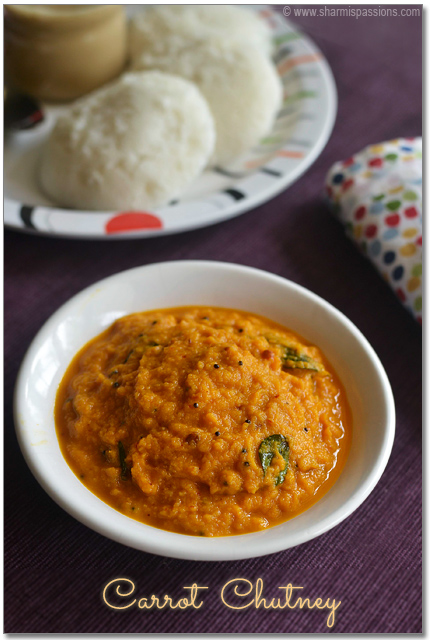 Carrot Chutney for Idli Dosa