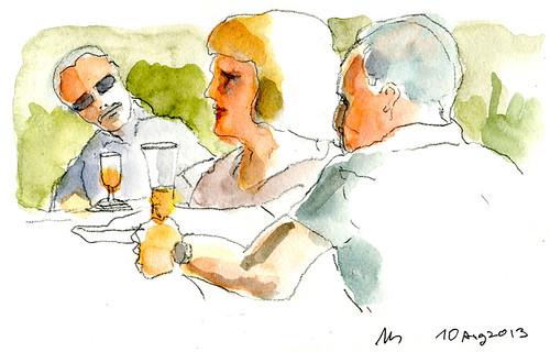 Beergarden 2013 Bremen Vegesack by manfred schloesser