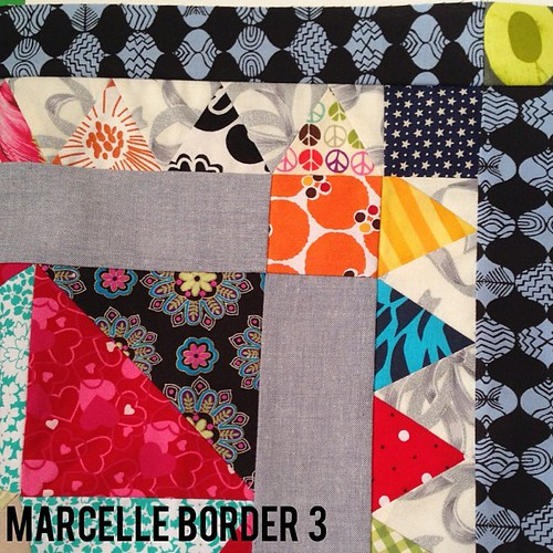 #marcellemedallion border 3 finished! #libertylove #patchwork #sew #sewing #medallionalong