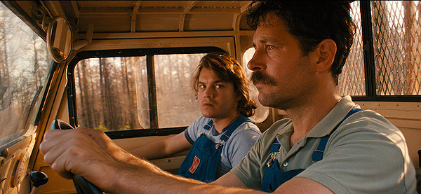 Emile Hirsch and Paul Rudd bond in devastated Texas wilderness in PRINCE AVALANCHE.