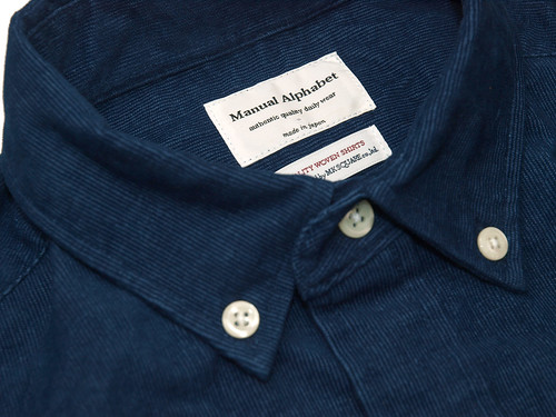 Manual Alphabet / Indigo Corduroy B.D Shirt