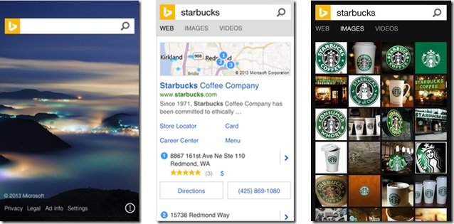 мобильный поиск Bing