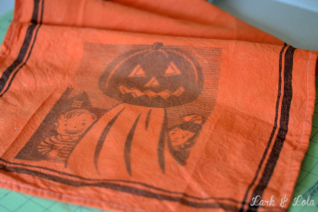 Halloween Dye & transfer tea towels