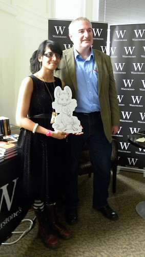Chris Riddell with fan