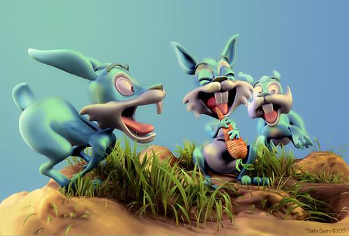 Rabbits by Carlos Castro Pérez
