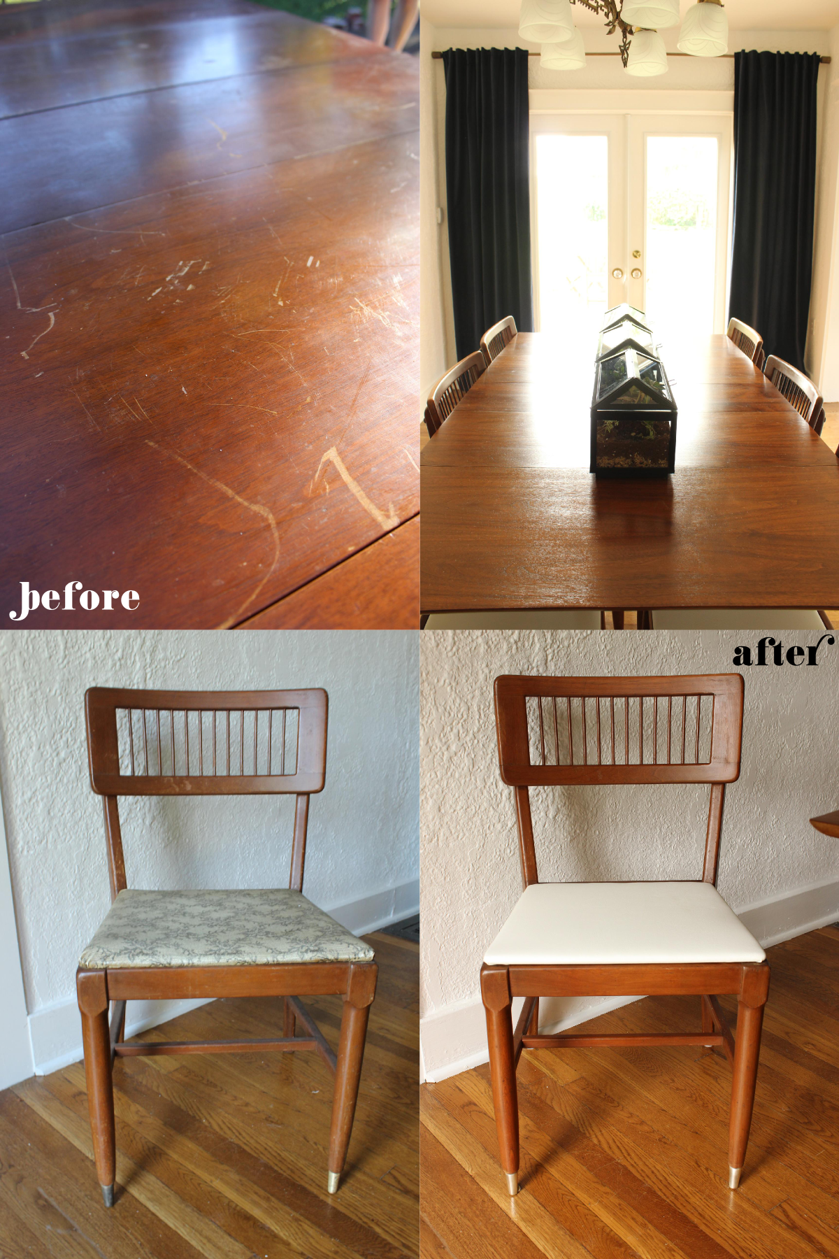 Fabric Paper Glue | Dining Room Restoration