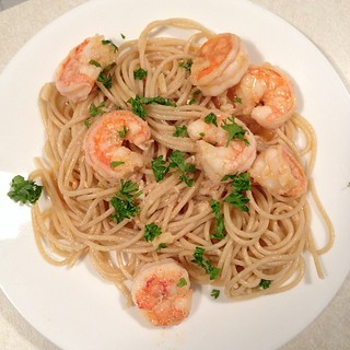 Cajun shrimp and noodles