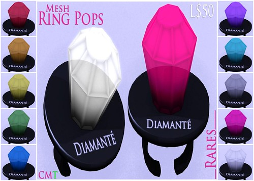:Diamante: Mesh Ring Pop Gachas by Alliana Petunia