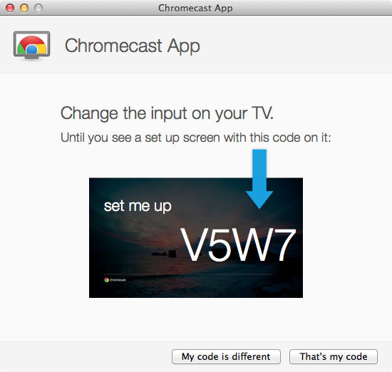 Google Chromecast - Setup Step 4