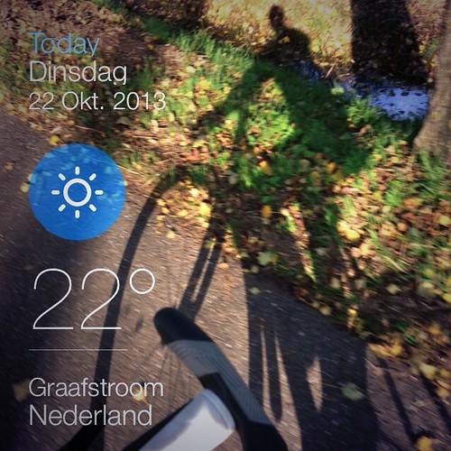 2013-10-22 fietsen herfstzon instaweather by edufloortje