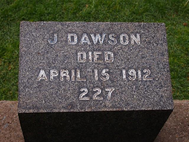 Fairview Cemetery Titanic grave