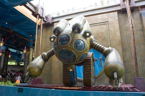 站內這個海底機械人超吸睛! 很有蒸汽龐克的風格呢~