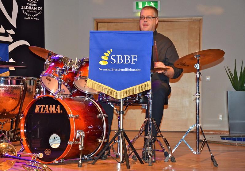 Brassbandfestivalen 2013 - Anders Hellman, slagverk...?? (Foto: Olof Forsberg)