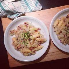 9/12 schupfnudel-sauerkraut-pfanne #12v12  #12von12 #dinner #food
