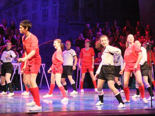 Football-themed choreography in The Beautiful Game - Photo © Susan Scott and Michael G Walker