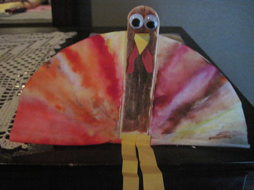 Tie-dye coffee filter turkey
