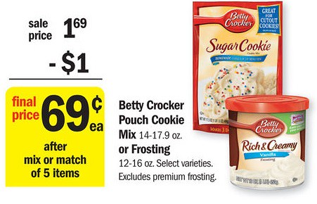 Meijer 0 32 Cookie Mix Frosting 0 62 Nestle Toll House Morsels